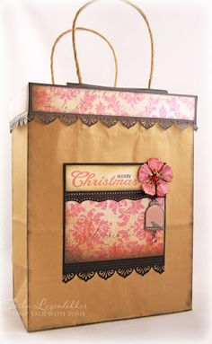 Stamp Talk with Tosh: Gift Bag Topper Tutorial