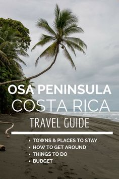 The Osa Peninsula in Costa Rica is one of the biologically intense places in the world. Read our guide to visiting: http://mytanfeet.com/costa-rica-travel-tips/where-to-stay-in-osa-peninsula/