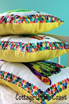 Hungry caterpillar library pillows....LOVE!