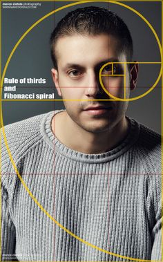 Portrait - Rule of thirds and Fibonacci spiral by Marco Ciofalo Digispace, via 500px