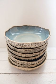 Set of 10 pasta bowls Handmade ceramic salad bowl set Large organic stoneware serving bowl Rustic kitchenware Stoneware Dinnerware, Stoneware Clay, Farmhouse Dinnerware, Dinnerware Ideas, Ceramic Decor, Ceramic Plates, Pottery Bowls, Ceramic Pottery, Porcelain Ceramic