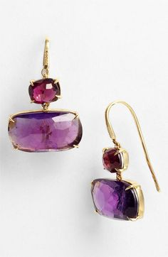 Marco Bicego 'Murano' Garnet & Amethyst Drop Earrings available at #Nordstrom