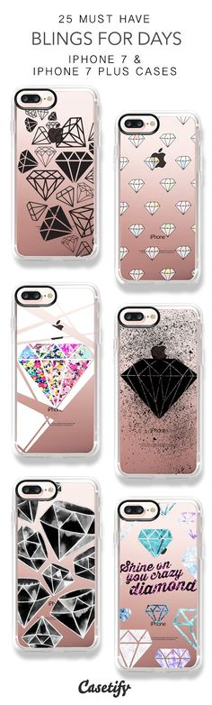 25 Must Have Bling For Days iPhone 7 Cases and iPhone 7 Plus Cases. More Diamond iPhone case here > Cool Iphone Cases, Diy Phone Case, Cute Phone Cases, Iphone Phone Cases, Coque Smartphone, Coque Iphone 6, Iphone 7 Plus Rose, Portable Apple, Telephone Iphone