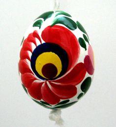 CLOSEOUT SALE ! Hungarian Matyó folkart HANDPAINTED WOOD EGG ORNAMENT Easter NEW