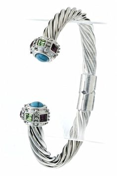 WHOLESALE JEWELRY TOWN : JEWEL HEAD CABLE CUFFwholesalejewelrytown