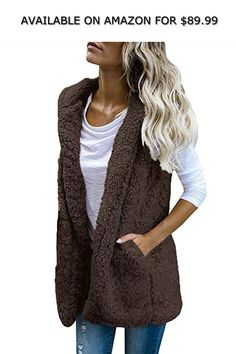 Lutratocro Womens Loose Hooded Outwear Oversized Button-Down Trench Coat