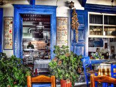 Cute restaurant (somewhere) in Santorini, Greece.