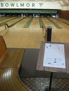 I love bowling in old fashioned bowling alleys.