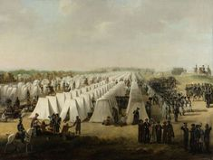 The army camp at Rijen. Netherlands, c. 1831