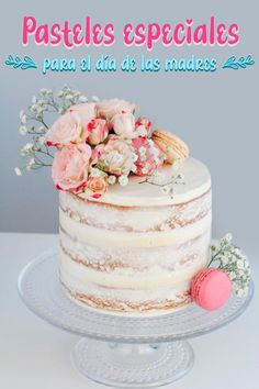 Vanillu naked-cake Best Picture For wedding cakes spring blue For Your Taste You are looking for something, and it is going to tell you exactly what you are looking for, and you didn't find that pictu Pretty Birthday Cakes, 18th Birthday Cake, Pretty Cakes, Cute Cakes, Beautiful Cakes, Elegant Birthday Cakes, Birthday Cake With Flowers, Bithday Cake, Birthday Gifts