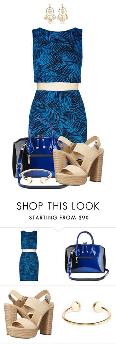 """""""Leaf Print"""" by tlb0318 on Polyvore featuring Bailey 44, Michael Kors, Isabel Marant and Oscar de la Renta"""