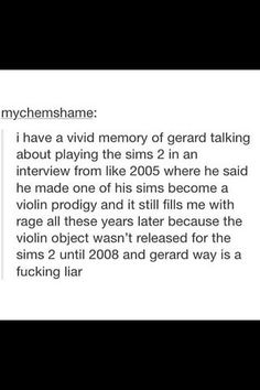 Gerard way is a liar pass it on