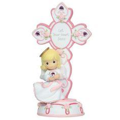 Precious Moments Angel w/ Cross Figurine - October Birthstone  **BRAND NEW** #PreciousMoments