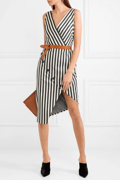 #NETAPORTER #Nextseason :'#ALTUZARRA Marceau asymmetric striped cotton-blend dress- Paris is special to Joseph Altuzarra it's where he spent his childhood – so it was only fitting for him to unveil his Spring '18 runway at a school in the heart of the city. Part of the lineup, this asymmetric 'Marceau' dress is made from a lightly structured cotton-blend and printed with the label's signature stripes. The wrap-effect bodice is so flattering on the waist - try adding a belt to further…