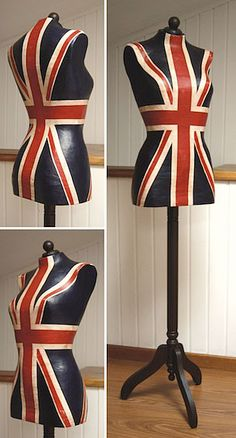 UNION JACK Dress form, mannequin, I would love to have one of these!