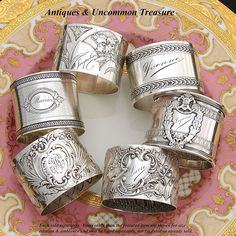 Antique French sterling silver napkin rings!  Another thing I have started collecting!! #SterlingSilverKitchen