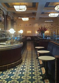 The inspiration of the floor was derived from Bouchon, Las Vegas