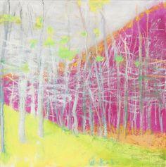Blatant, Oil Canvas by - Wolf Kahn Pastel Landscape, Abstract Landscape, Landscape Paintings, Landscapes, Abstract Trees, Abstract Art, Paintings I Love, Pastel Paintings, Pastel Art