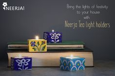 Bring the lights of festivity to your house with Neerja Tea Light Holders! Shop the collection now at https://www.neerja.com/category/candle-holders