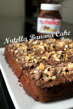 Nutella Banana Cake