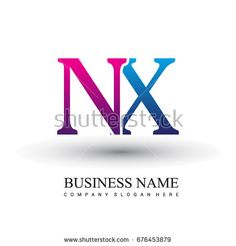 initial letter logo NX colored red and blue, Vector logo design template elements for your business or company identity