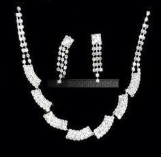 Fantastic Alloy with Rhinestone Wedding Jewelry Set