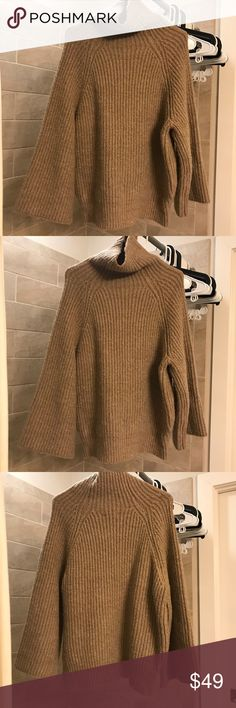 Cozy Sweater This is my favorite color earth tone! Turtle neck, pretty much warm! Very casual and comfortable. Only wear once! noul Sweaters Cowl & Turtlenecks