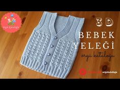 Üç Boyutlu V Bebek Yeleği Modeli - Örgü Modelleri / Knit Baby Vest (subtitles available) - Вязание спицами Baby Sweater Knitting Pattern, Baby Knitting Patterns, Baby Patterns, Crochet Baby, Knit Crochet, Baby Skirt, Baby Pullover, Knitting Videos, Embroidery For Beginners
