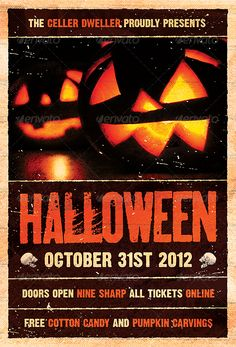 Pumpkin Head - Halloween Flyer Template