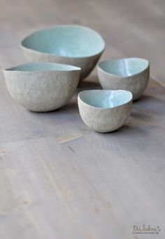 Beautiful organic forms, duck egg blue glaze