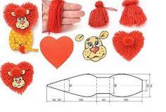 Afbeeldingsresultaat voor leeuw uit papieren harten