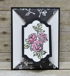 Video tutorial! Create a double point fold using the Petal Palette stamp set. Stampin' Up!