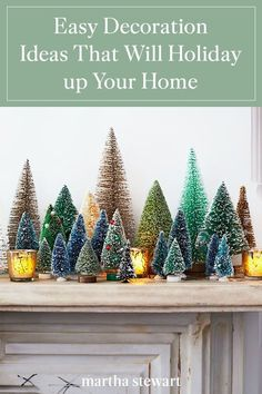 When decorating your home for the holidays, consider these festive and easy touches. Classic in inspiration and modern in execution, they bring cheer to nearly every room in the house and are as easy to create. #christmas #holidayideas #christmasideas #wintertodo #marthastewart