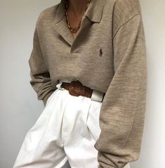 New finds online now - paired with Na Nin Townes Trousers in white linen Trendy Outfits, Winter Outfits, Fashion Outfits, Simple Outfits, Look Fashion, Winter Fashion, Vintage Outfits, Outfit Invierno, Oufits Casual