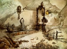 Les illustrations sous formes d'aquarelles de Yuri Laptev
