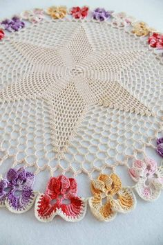 Picture of Vintage Pansy Star Doilies Crochet Pattern