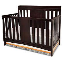 Delta Bennington Sleigh 4-in-1 Crib - Dark Chocolate