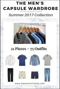 Mens Summer Capsule Wardrobe 2017 e-Book