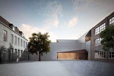 Universidade de Arquitectura de Tournai, cujo projecto acaba de ser ganho pelo atelier português Aires Mateus.