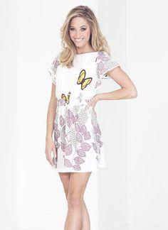 Butterfly Sky Dress (White)