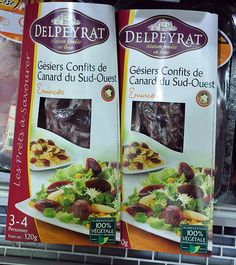 Duck Gizzards Confit at the Dordogne Supermarket Have You Tried, Dishes, Duck Confit, Tablewares, Dish, Signs, Dinnerware