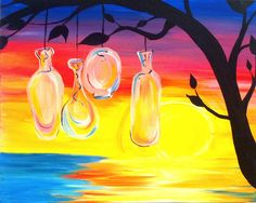 """Sea Glass Sunset""  Under Paid :)"