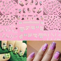 Fashion 10 Sheets/Lot Nail Art Tips Flower Butterfly Wrap Lace Decal Stickers DIY Decoration * Find out more about the great product at the image link.
