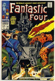 Fantastic Four 80 Silver Age Marvel Jack Kirby Joe Sinnott Wyatt Wingfoot Solo Marvel Comic Books, Comic Book Characters, Comic Books Art, Book Art, Comic Superheroes, Marvel Characters, Jack Kirby, Vintage Comic Books, Vintage Comics
