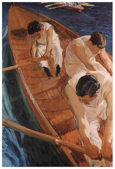 Joaquin Sorolla y Bastida In the Rowing Boat Zarauz oil painting for sale; Select your favorite Joaquin Sorolla y Bastida In the Rowing Boat Zarauz painting on canvas or frame at discount price. Spanish Painters, Spanish Artists, Figure Painting, Painting & Drawing, Art And Illustration, Illustrations, Image New, Art For Art Sake, Claude Monet