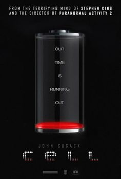 """'Cell'. Based on the post-apocalyptic horror thriller """"Cell"""" by Stephen King. When a mysterious cell phone signal causes apocalyptic chaos, an artist is determined to reunite with his young son in New England. Starring Samuel L. Jackson, John Cusack, and Isabelle Fuhrman. Expected release date: 2016."""