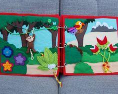 Piratebook - 2 Quiet book pages Jungle PATTERN & TUTORIAL