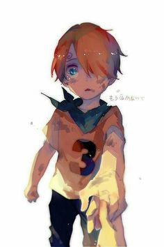 Sanji, young, childhood, sad, crying, text, hand; One Piece