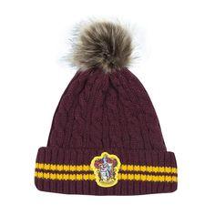 Harry Potter Gryffindor House Tricot Pompon Chapeau adulte ou ado unisexe