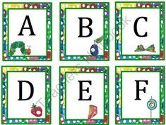 the hungry caterpillar classroom theme Alphabet Activities Kindergarten, Activities For Autistic Children, Toddler Learning Activities, Preschool Printables, Fun Learning, Free Printables, Literacy, Kindergarten Units, Very Hungry Caterpillar Printables